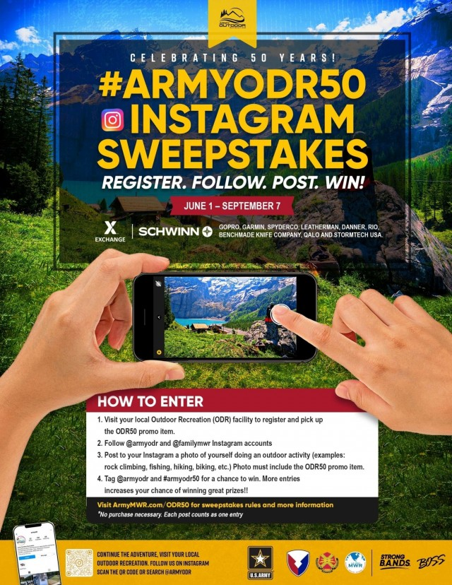 To celebrate Outdoor Recreation's 50th anniversary, the facility is sponsoring a contest for the community.